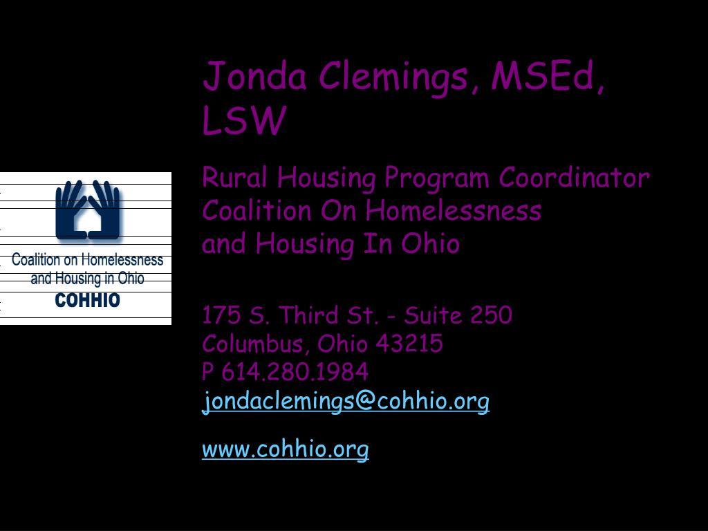 Jonda Clemings, MSEd, LSW