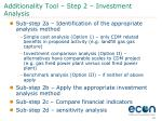 additionality tool step 2 investment analysis
