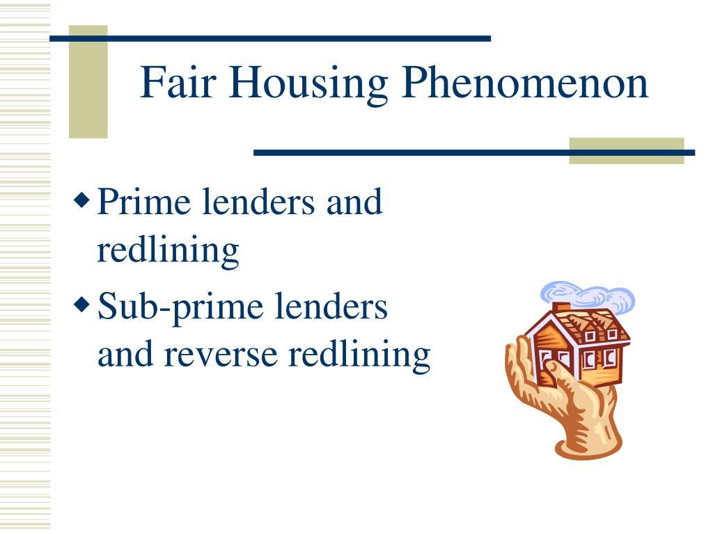 Fair Housing Phenomenon