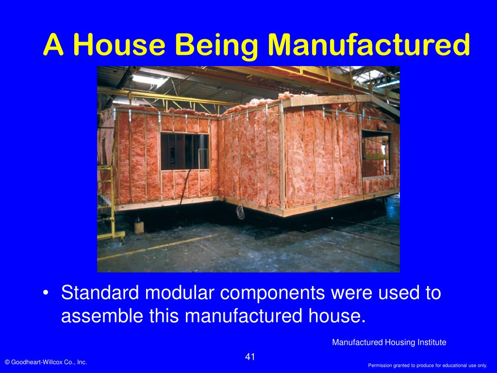 A House Being Manufactured