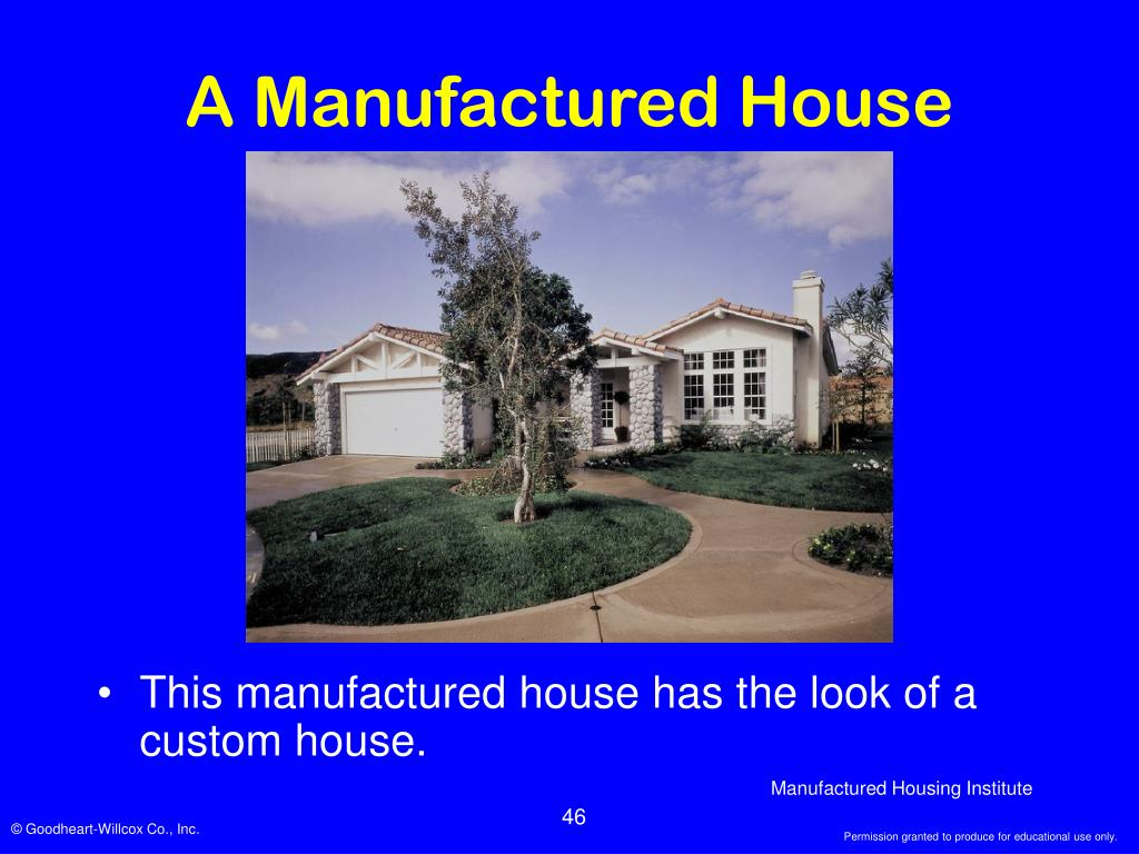 A Manufactured House