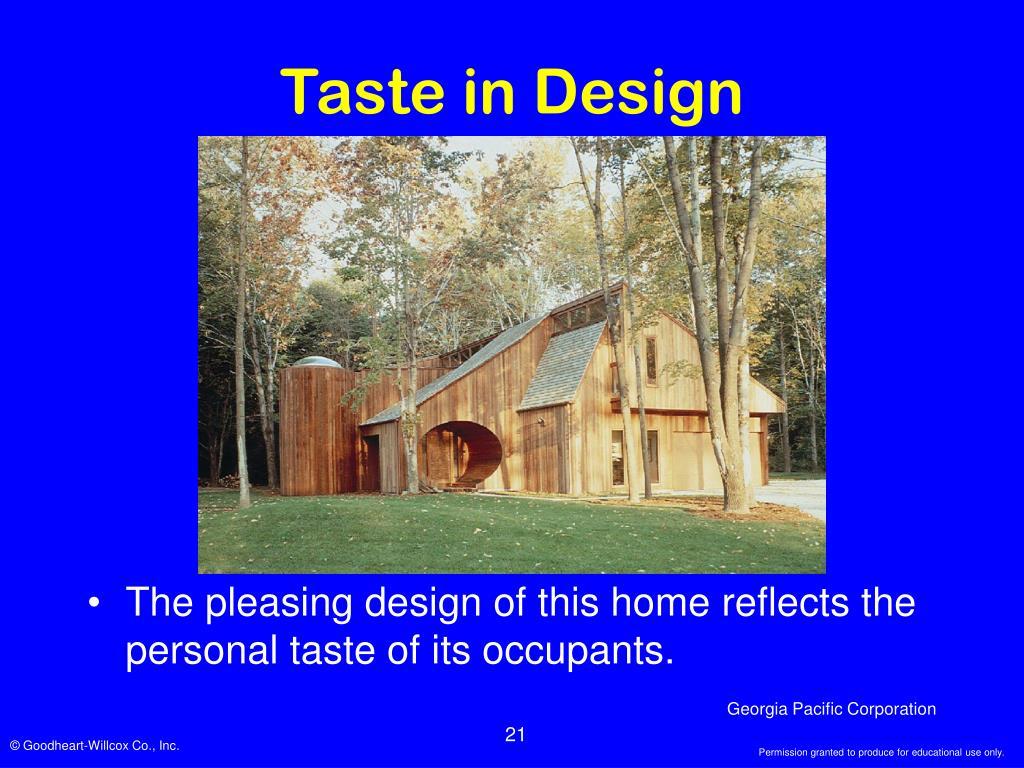 Taste in Design
