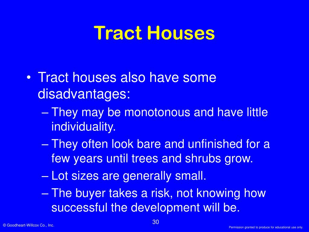 Tract Houses