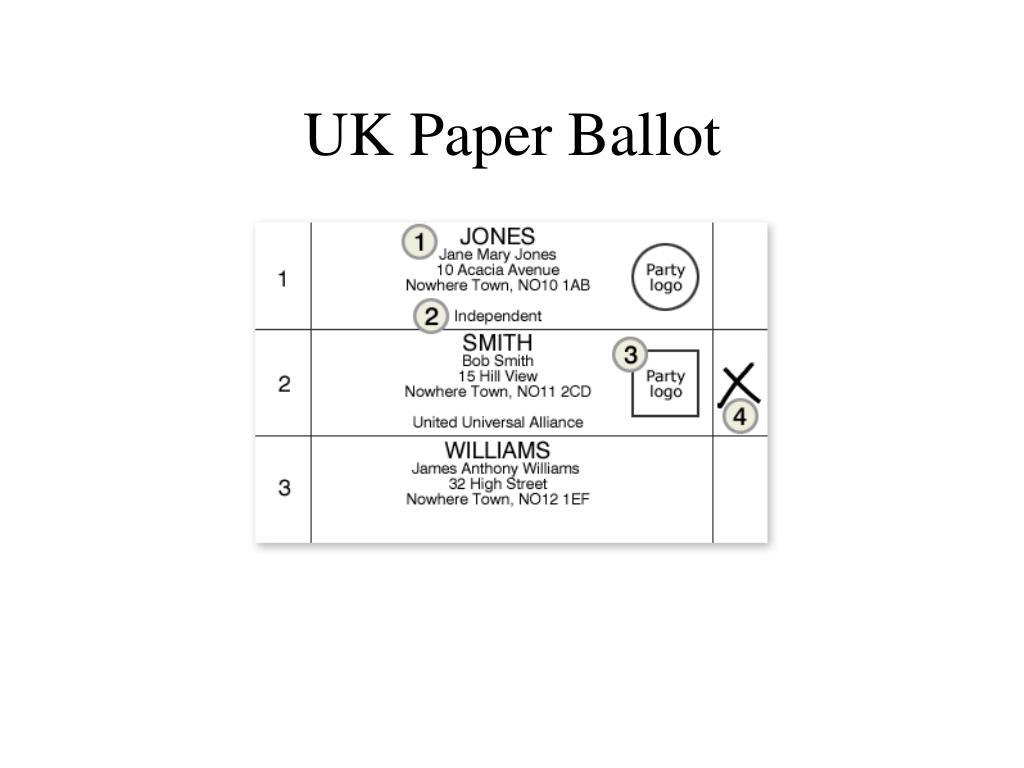 UK Paper Ballot