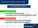 latin america positive outlook for 2000