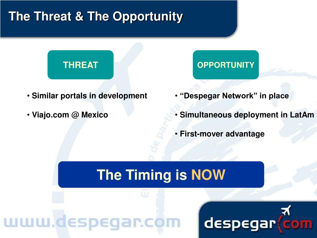 The Threat & The Opportunity