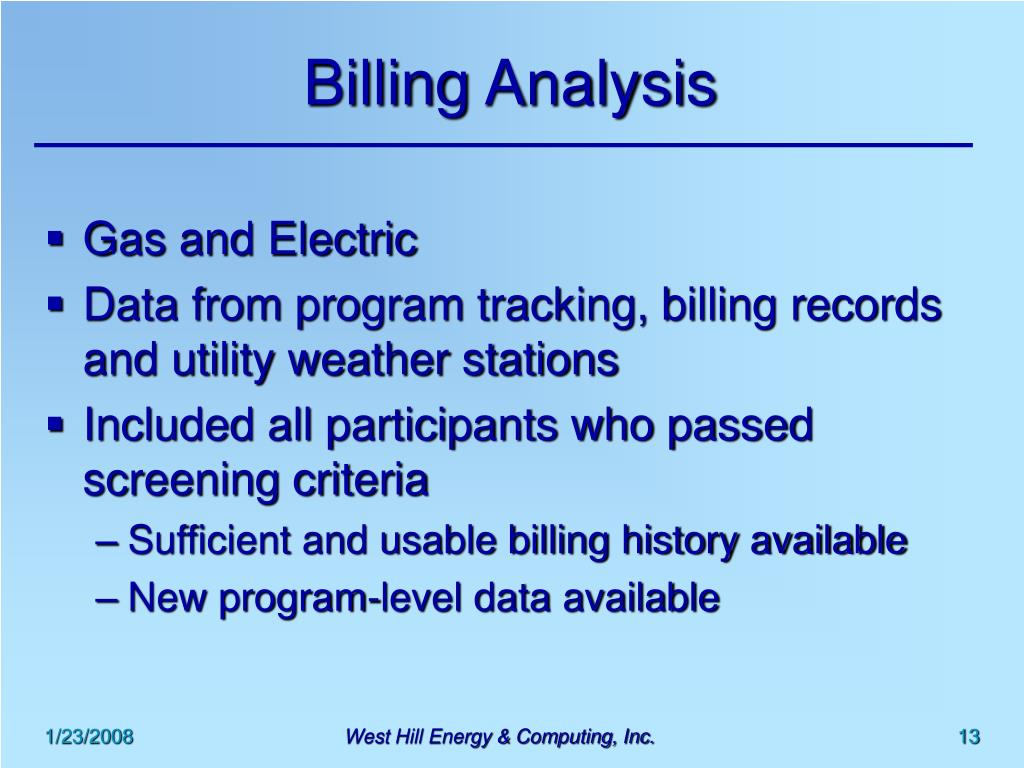Billing Analysis