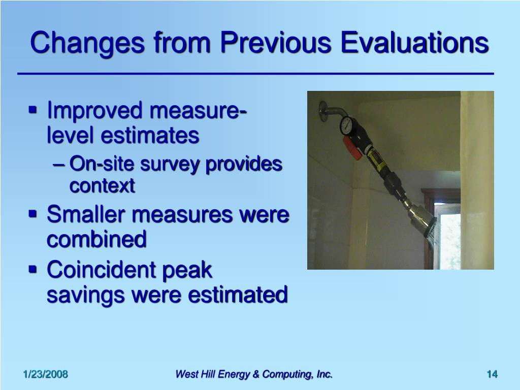 Changes from Previous Evaluations