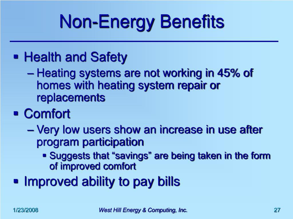 Non-Energy Benefits