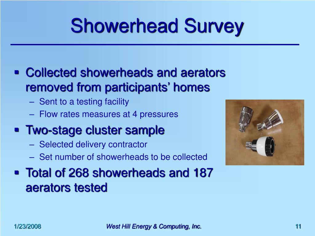 Showerhead Survey
