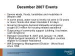 december 2007 events