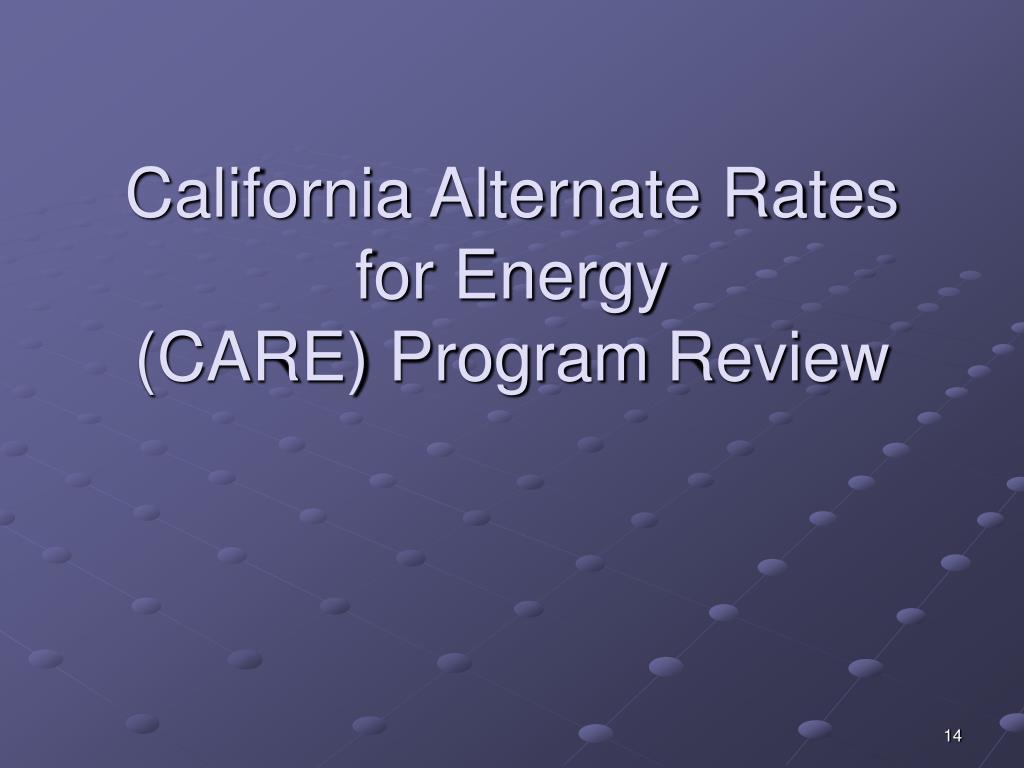 California Alternate Rates for Energy