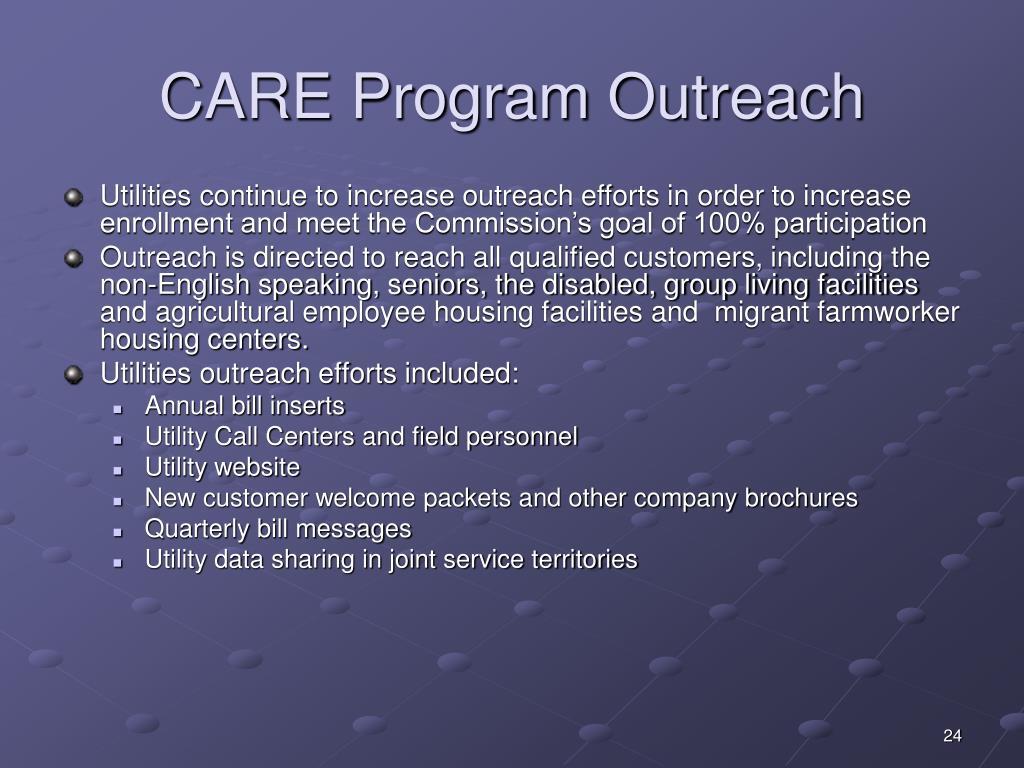 CARE Program Outreach