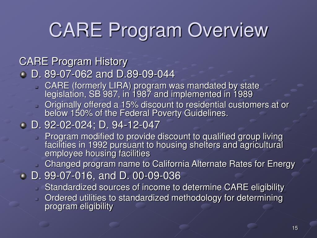 CARE Program Overview