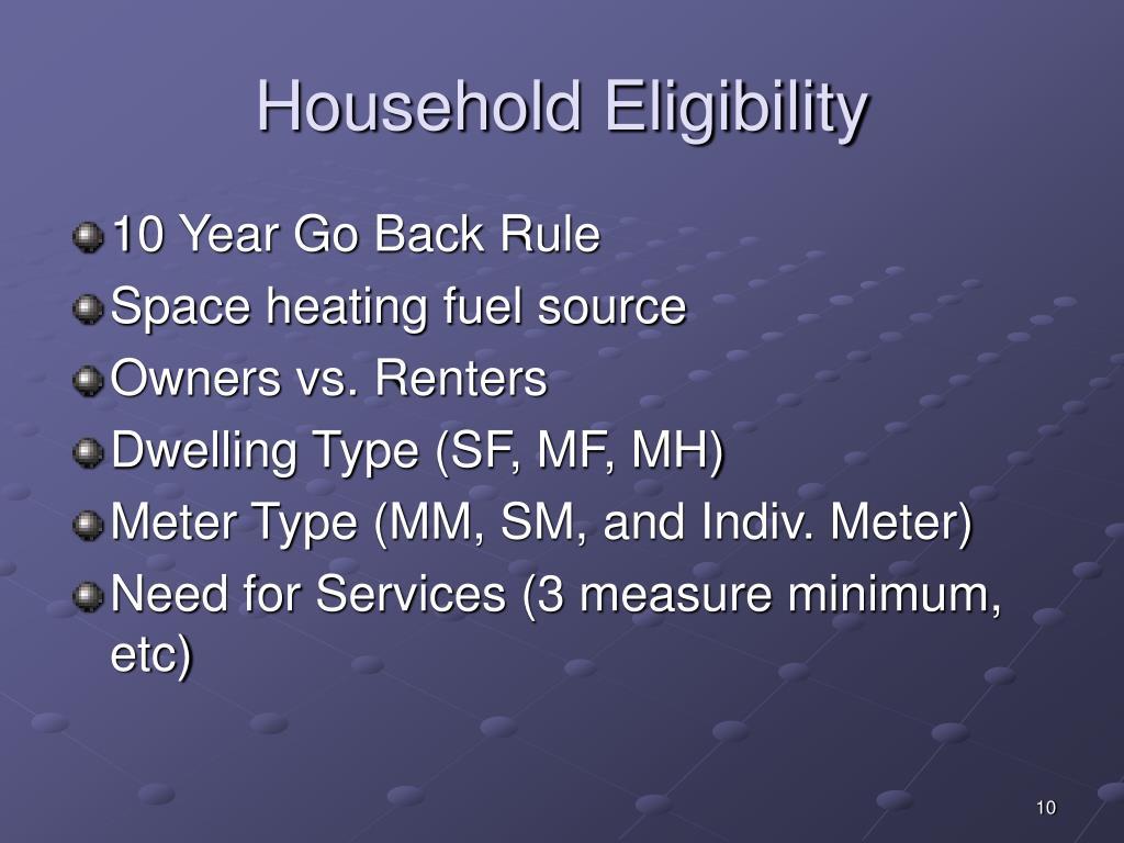 Household Eligibility