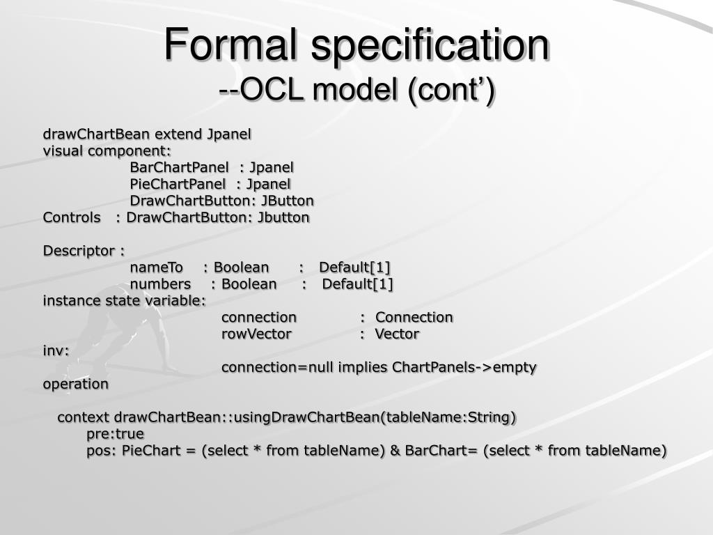 Formal specification