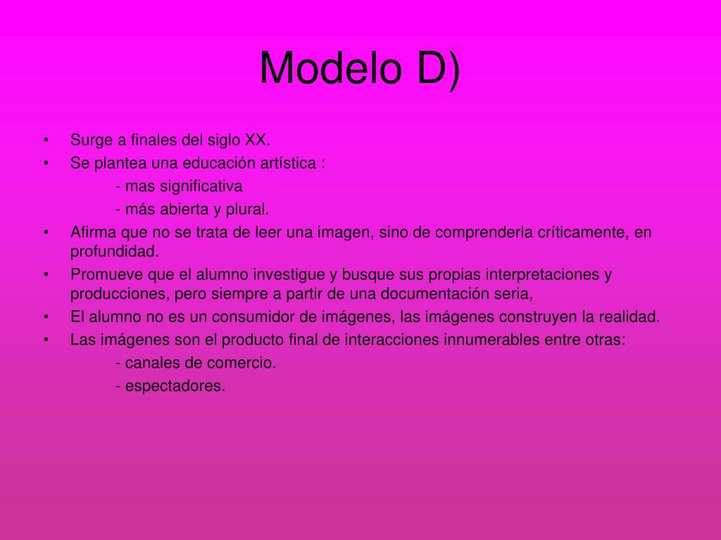 Modelo D)