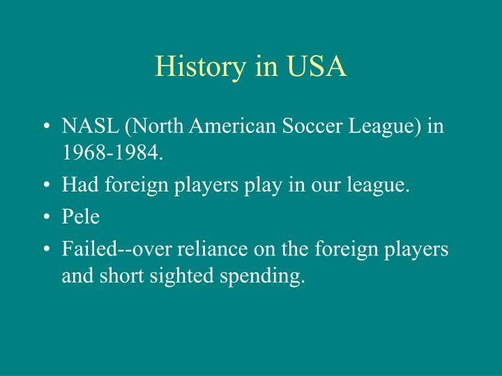 History in USA