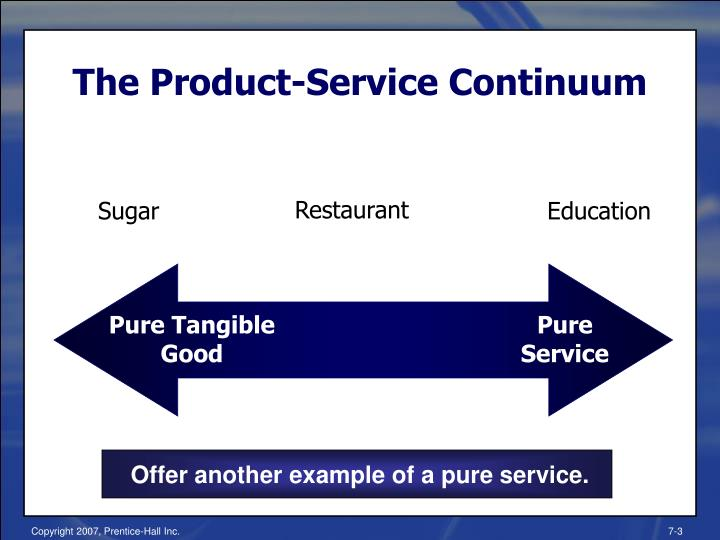 The product service continuum
