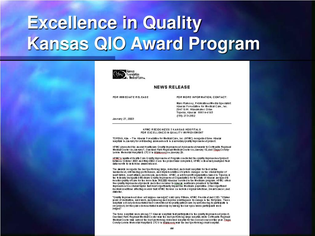 Excellence in Quality