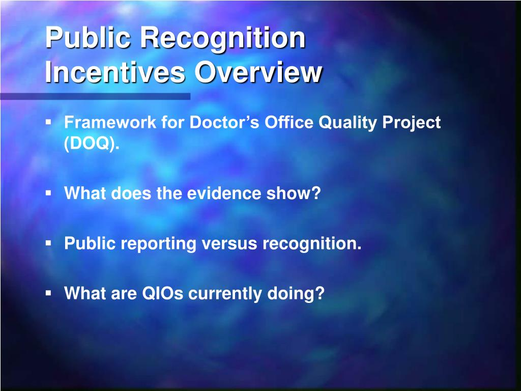 Public Recognition