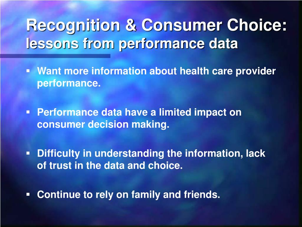 Recognition & Consumer Choice: