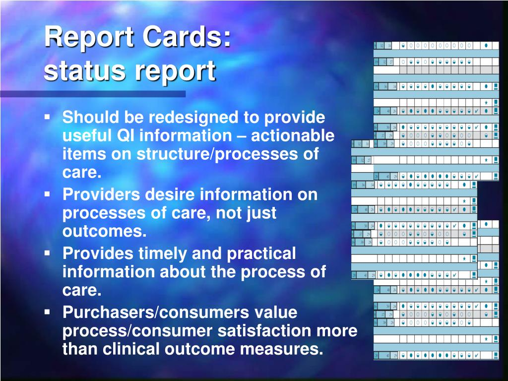 Report Cards: