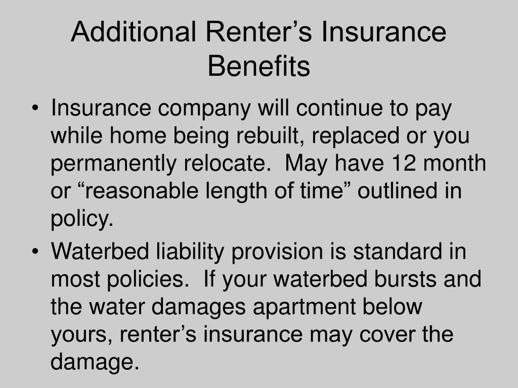 Additional Renter's Insurance Benefits