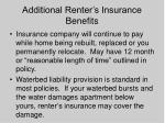 additional renter s insurance benefits