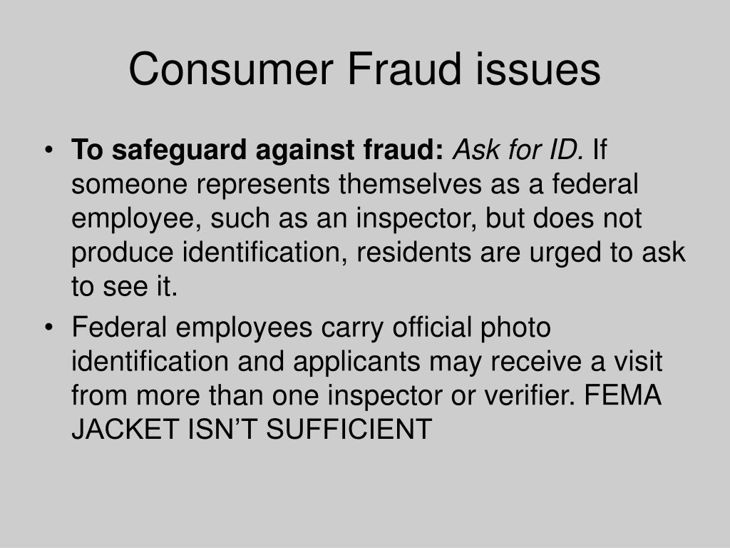 Consumer Fraud issues