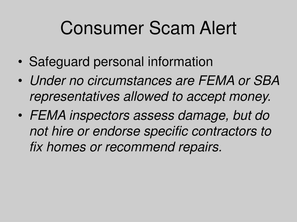 Consumer Scam Alert