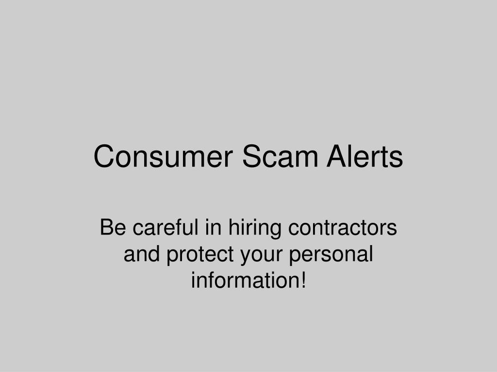 Consumer Scam Alerts