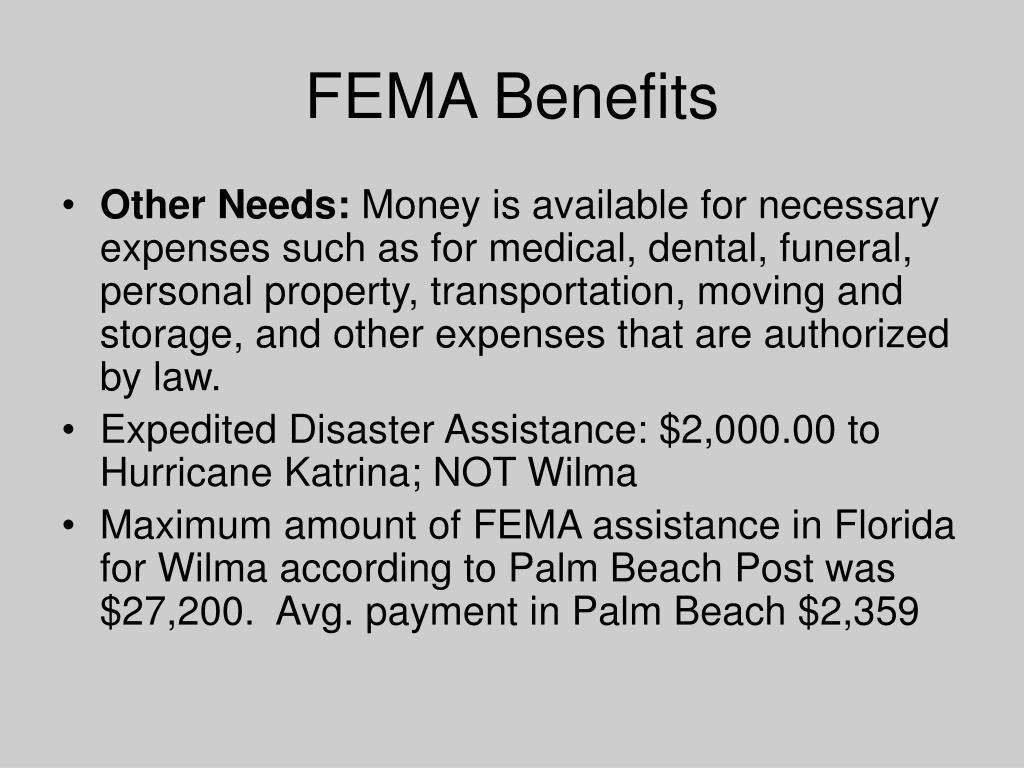 FEMA Benefits