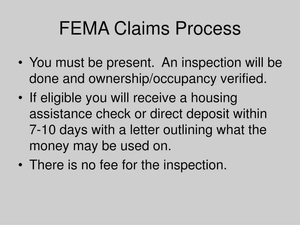 FEMA Claims Process