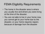 fema eligibility requirements