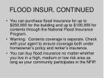 flood insur continued