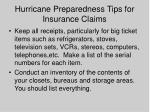 hurricane preparedness tips for insurance claims