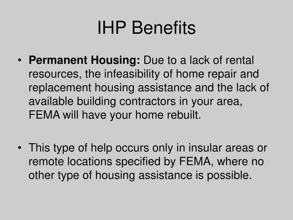 IHP Benefits