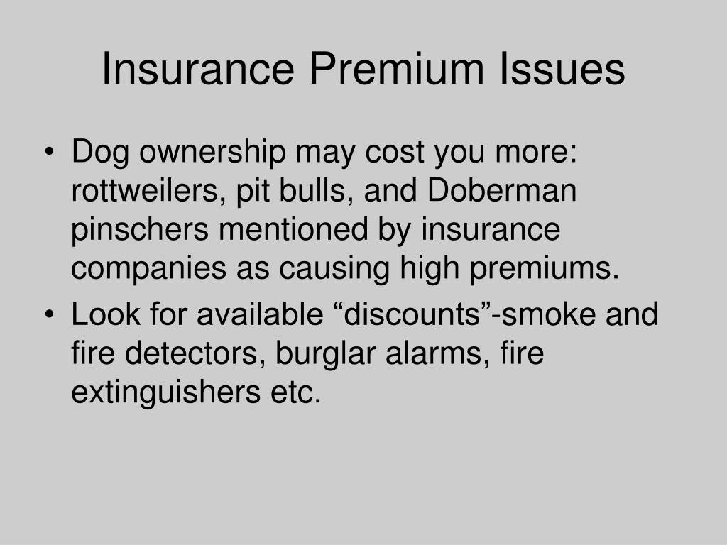 Insurance Premium Issues