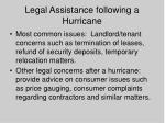 legal assistance following a hurricane56