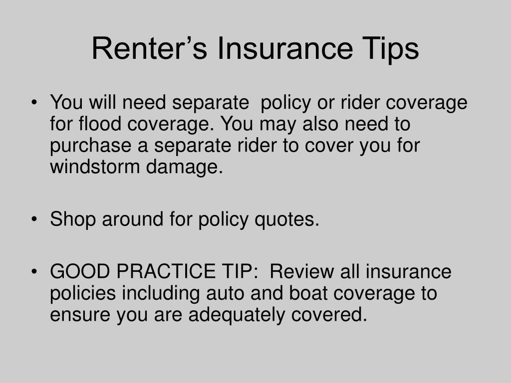 Renter's Insurance Tips