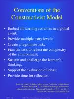 conventions of the constructivist model