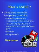 what is angel