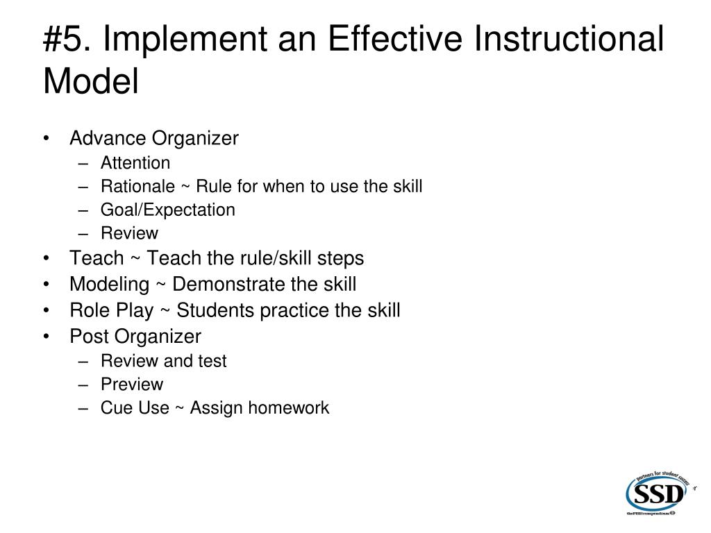 #5. Implement an Effective Instructional Model