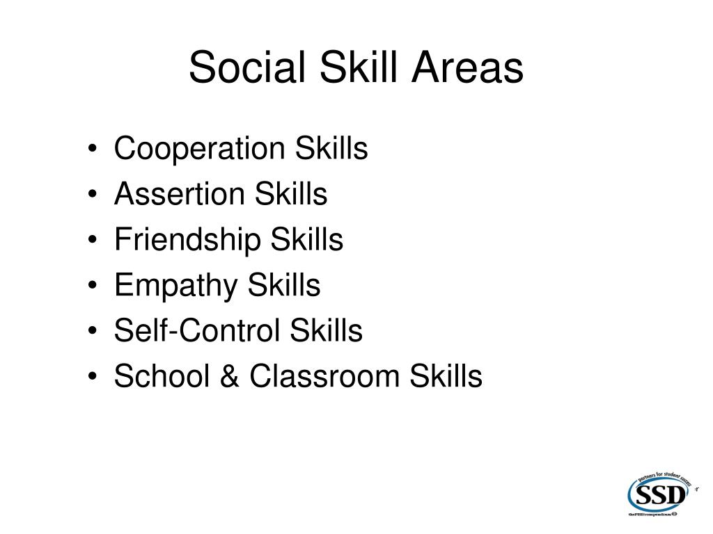 Social Skill Areas