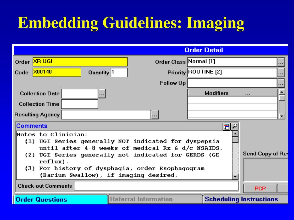 Embedding Guidelines: Imaging