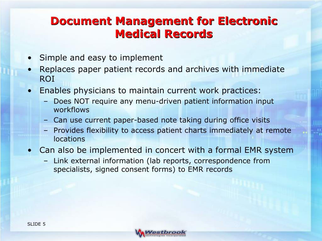 Document Management for Electronic Medical Records