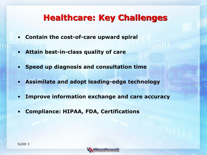 Healthcare key challenges