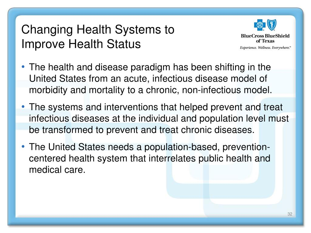 Changing Health Systems to