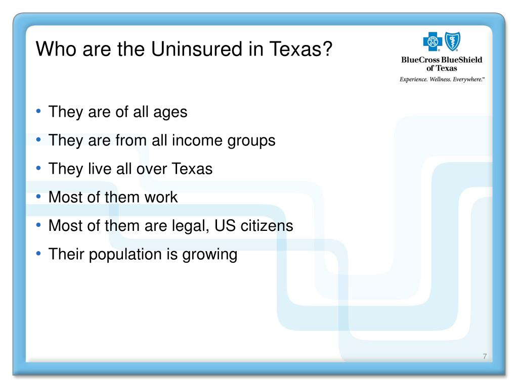 Who are the Uninsured in Texas?
